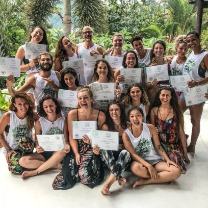 October 2018 group graduating at La Casa Shambala